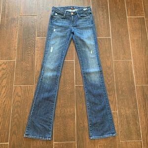 "Earnest Sewn Jeans - Earnest Sewn Lightly Distressed Slim Bootcut 34"""